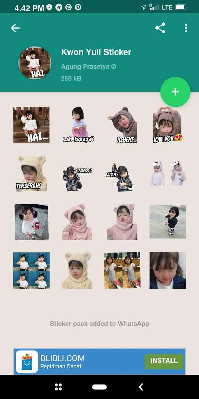 anak kecil yang dijadikan stiker