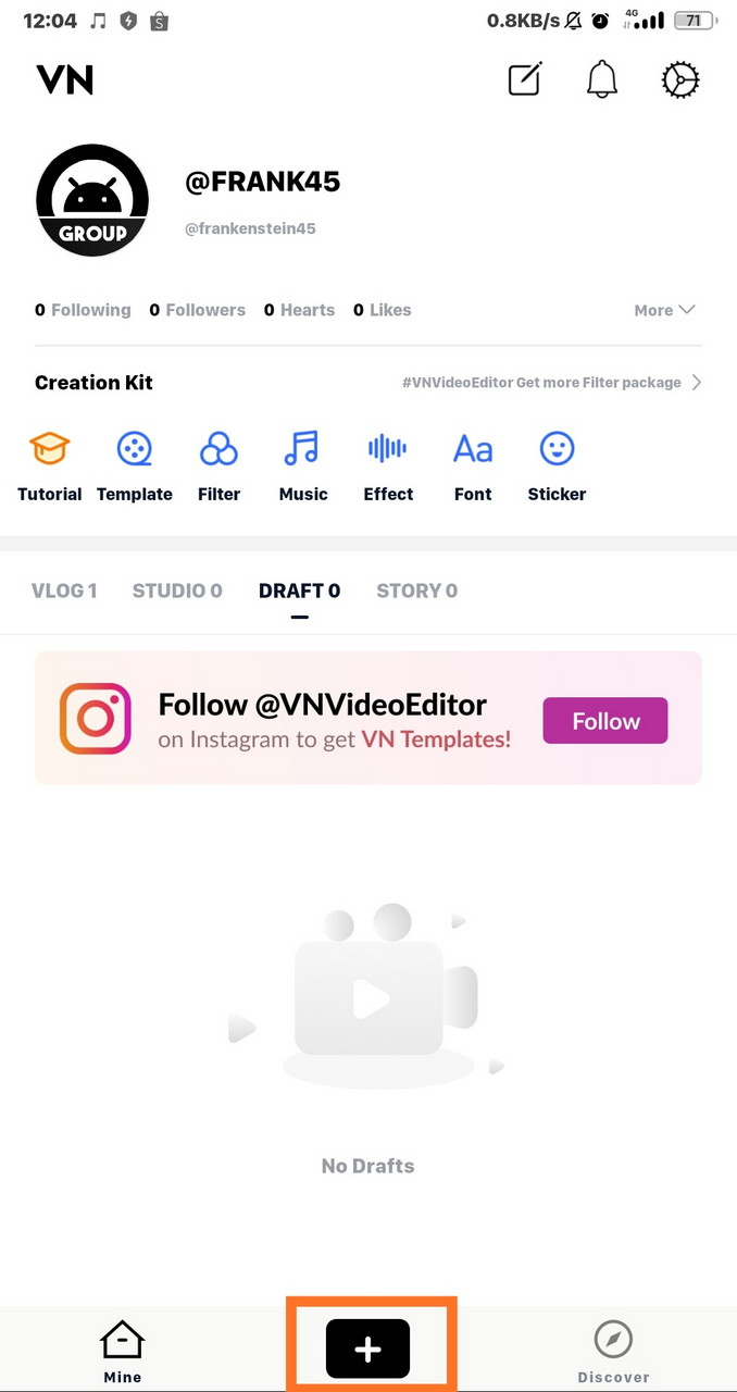 cara menyimpan video di aplikasi vn
