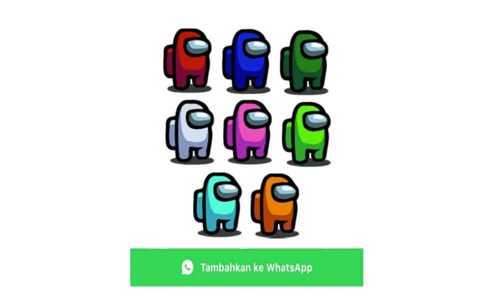 stiker wa among us indonesia