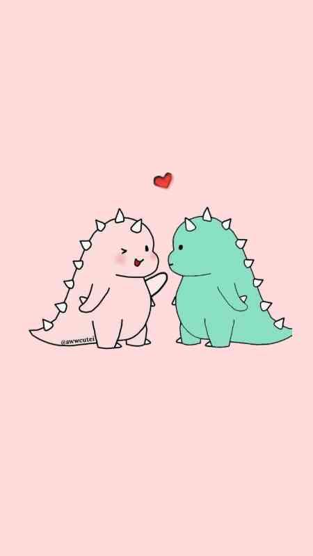 gambar dinosaurus couple viral