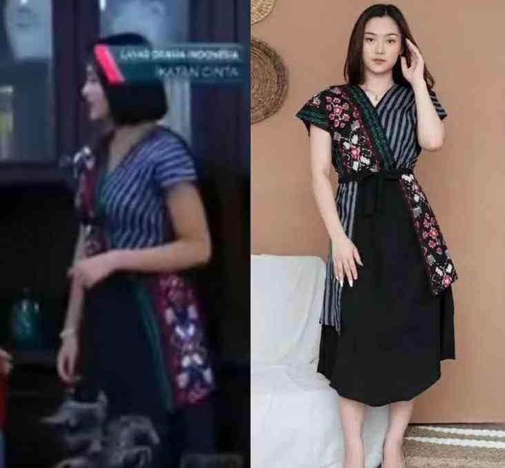 baju dress hitam andin viral