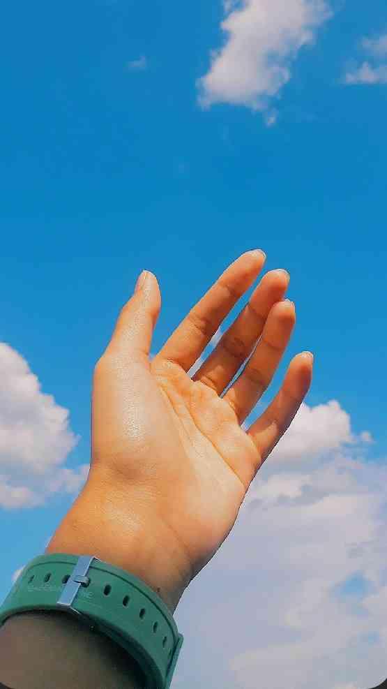 foto tangan aesthetic